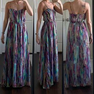 Jack by BB Dakota multicolor rainbow maxi dress
